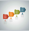 4 steps of infographic with red orange green and vector image vector image