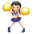 A pretty cheerleader vector image vector image