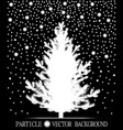 abstract falling snow particles and new year vector image vector image