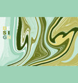 abstract mixed green and yellow waves and swirls vector image
