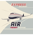 Air freight international shipping vector image