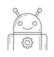 app setup line icon vector image vector image