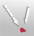 Arrows with spot vector image vector image