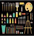 art tools color set vector image