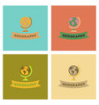 assembly flat icons geography lesson vector image vector image