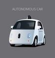 autonomous driverless self-driving electric ec vector image
