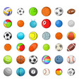 ball sports icon set cartoon style vector image vector image
