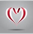 belarusian flag heart-shaped ribbon vector image vector image