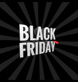 black friday sale background gift icon vector image vector image