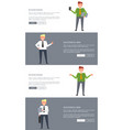 businessman and successful man posters with text vector image vector image