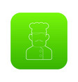 chef cook icon green vector image
