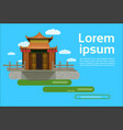 chinese pagoda building view asian traditional vector image