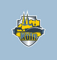 cologne city emblem logo in two colors vector image