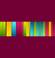 colorful stripes abstract modern banner vector image vector image