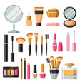 cosmetics for skincare and makeup product set for vector image