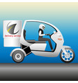delivery service on a motorcycle scooter vector image
