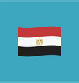 egypt flag icon in flat design vector image