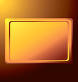 empty the gold rectangular medal against the light vector image