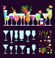 exotic cocktail drink creator vector image vector image