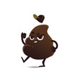 flat angry poop vector image vector image