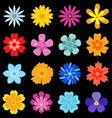 flower blossom set vector image vector image