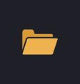 Folder computer symbol vector image
