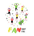 football fans celebrating victory sport supporters vector image vector image