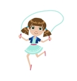 Girl With The Skipping Rope vector image