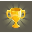 Golden winner cup vector image vector image