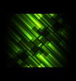 green bar overlap in dark background vector image vector image