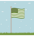 green USA vector image vector image