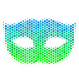 halftone blue-green privacy mask icon vector image