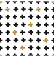 Hand Drawn Cross Shapes Seamless Pattern vector image vector image