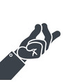 hand gesture finger snap icon vector image