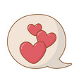 hearts into speech bubble vector image