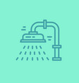 isolated plumbing icon vector image vector image