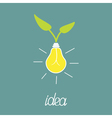 Lump bulb with green leafs ECO energy idea concept vector image vector image