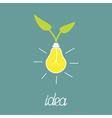 Lump bulb with green leafs ECO energy idea concept vector image