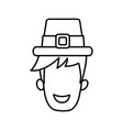 male vintage hat vector image
