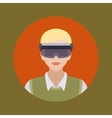 Man in the augmented reality glasses vector image