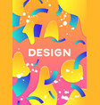 modern abstract poster cover vector image vector image