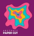 modern template 3d paper cut template with vector image vector image