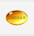omega 9 vitamin pill oil golden essence capsule vector image vector image