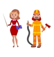 People teacher and firefighter different vector image vector image