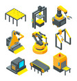 pictures of industrial tools for factory vector image
