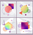 posters with abstraction set vector image