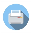 Printer flat icon vector image vector image