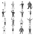 Profession icons set gray monochrome style vector image vector image