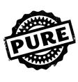 Pure rubber stamp vector image