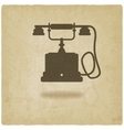 retro phone old background vector image